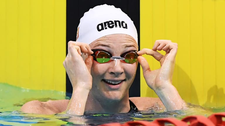 Happy place: Cate Campbell has rediscovered her love of swimming.