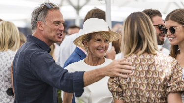 Julie Bishop and David Panton at the Portsea Polo on Saturday.