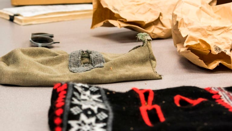An undated photo of ski masks associated with the East Area Rapist in Sacramento.