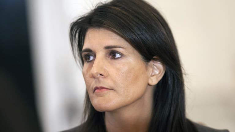 US ambassador to the UN Nikki Haley.