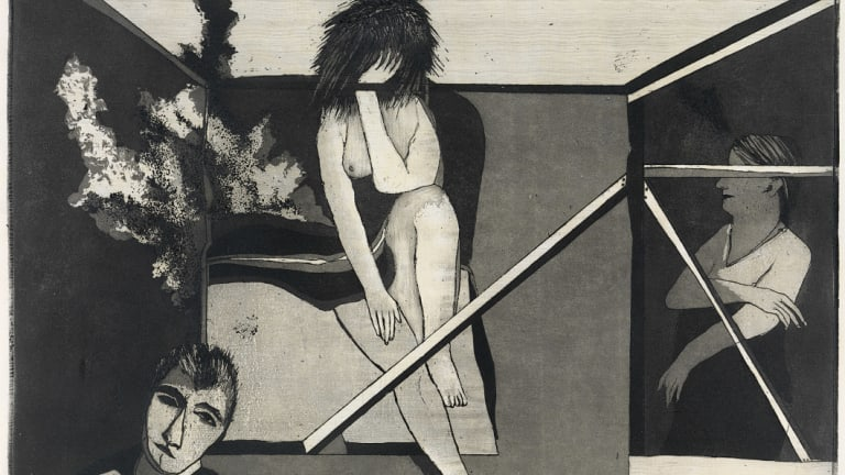 George Baldessin's 'Bedfellows', 1974.