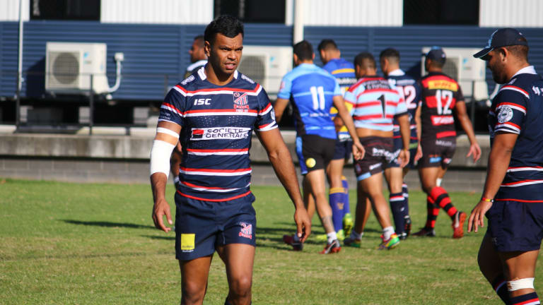 Moving on: Kurtley Beale donning his new Easts club attire at Waratahs training on Tuesday.