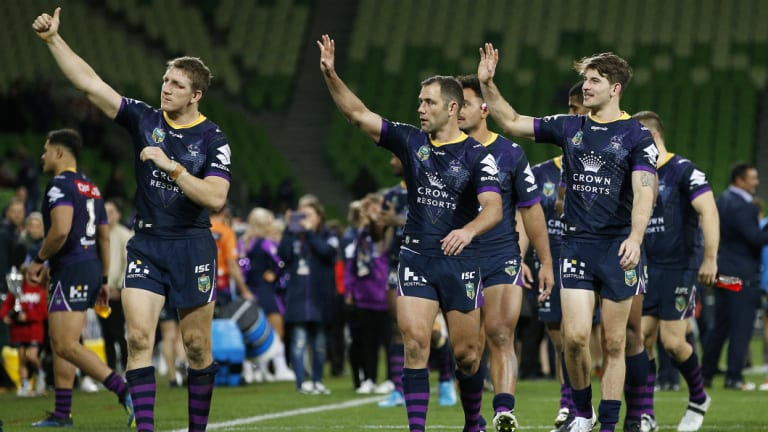 Purple patch: Melbourne Storm are proving their worth as the season runs ever closer to finals.