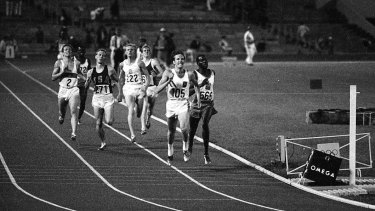 You've got to want it: Ralph Doubell wins gold in the 800 metres in 1968.