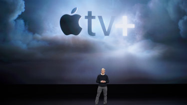 Apple CEO Tim Cook last week in Cupertino: Does he want to sell prestige TV for the rest of his life, or does he want to change the world?