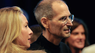 Laurene Powell Jobs with her late husband Steve Jobs in 2011.