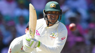 Usman Khawaja has scored his maiden first-class ton on the subcontinent.