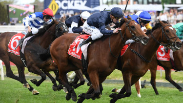 Cape of Good Hope thunders into Cox Plate contention with last gasp win