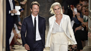Piccioli and his former co-creative director Maria Grazia Chiuri, who left for Dior in 2016.