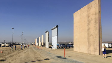 Contractors have completed eight prototypes of President Donald Trump's proposed border wall with Mexico.