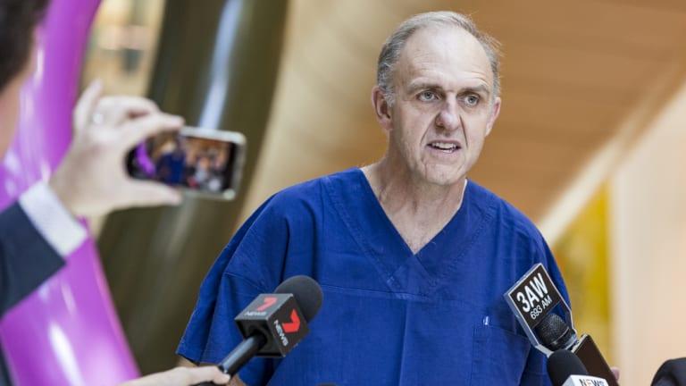 Royal Children's Hospital head of pediatric surgery, Dr Joe Crameri.