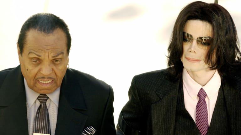 Joe Jackson with Michael Jackson in 2005.