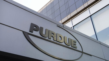 Purdue Pharma's headquarters in Connecticut.