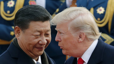 US President Donald Trump and Chinese President Xi Jinping.