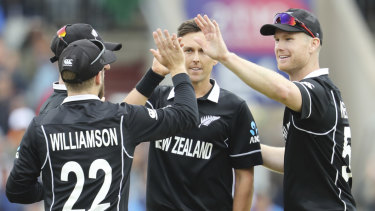 Go you good things: The Black Caps take on England in the World Cup final on Sunday.