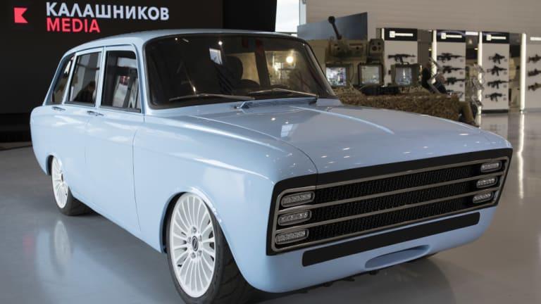Kalashnikov's CV-1, which it calls an electric supercar.
