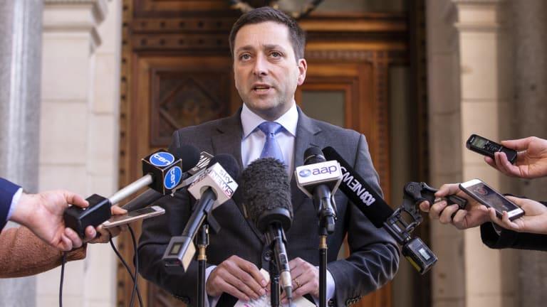 Opposition Leader Matthew Guy.
