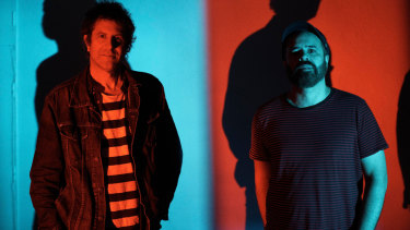 Shoegaze still moves people, says Swervedriver's Adam Franklin (right) with Jimmy Hartridge.