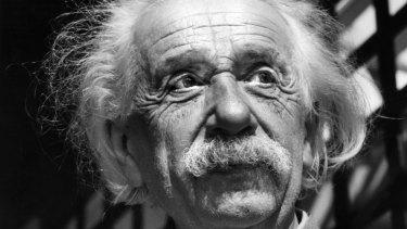 Physicist Albert Einstein in Princeton, New Jersey.