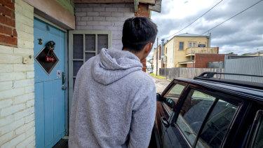 Neighbour Naoto Kawashima was woken by the brawling.