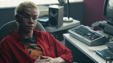 Will Poulter plays games guru Colin Ritman in Bandersnatch.