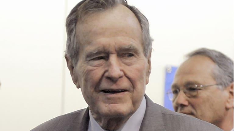 Former president George H. W. Bush in 2008.