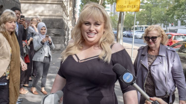 Rebel Wilson arriving at Melbourne's Court of Appeal in April of this year.