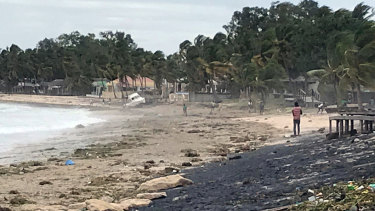 Wimbi Beach in Pemba, Mozambique, after Cyclone Kenneth made landfall.