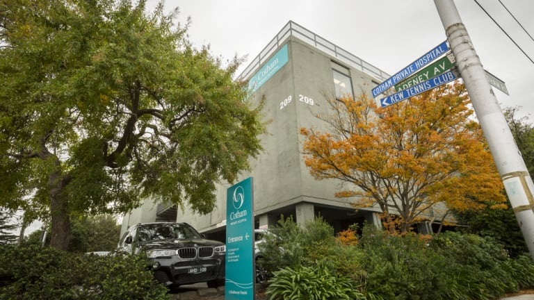 The Cotham private hospital in Kew is being readied for sale.