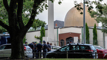 The Masjid Al Noor mosque, the scene of the mass shooting in Christchurch.