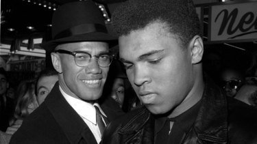 American Muslim activist Malcolm X pictured with boxer Muhammd Ali in 1964.