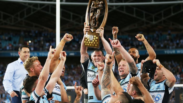 Not to be denigrated: Phil Gould's comment took some gloss off the Sharks' 2017 premiership triumph.