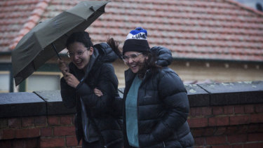 Melbourne was blasted by wind, hail and rain over the weekend.