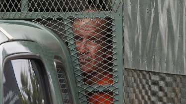 James Ricketson arrives at a Cambodian court.