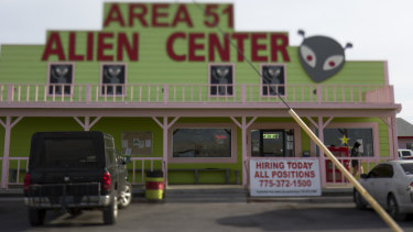 Area 51 Alien Center in Amargosa Valley, Nevada, north of Las Vegas.