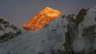 Standing tall: Mount Everest.