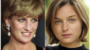 Young British actor Emma Corrin, right, is set to play the late Princess Diana.