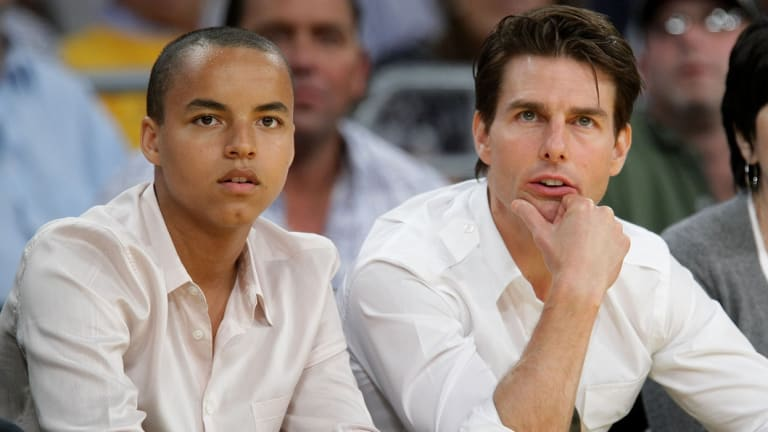 Connor and Tom Cruise in 2009.