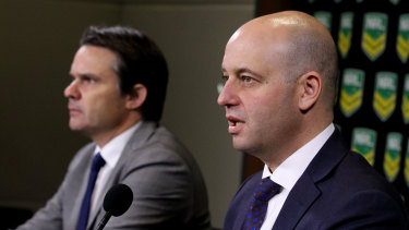 Making change: NRL COO Nick Weeks and CEO Todd Greenberg.