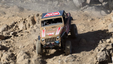 Combs competing in the Smitty Built Everyman's Challenge Race of the King of the Hammers in California in February 2018.