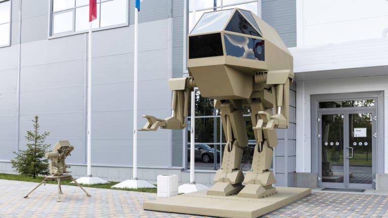 A conceptual model of Kalashnikov's robot.