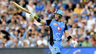 Smashing knock: Colin Ingram notches his 50.