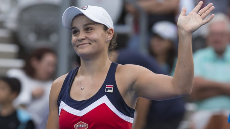 Embracing the pressure: Ash Barty.