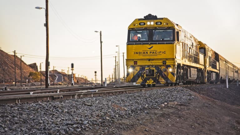 Hundreds of thousands of Australians have once again tuned in to watch a train zip through the desert.