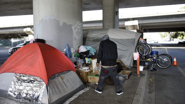 Many homeless people in the US  have poorly treated or untreated mental illnesses.