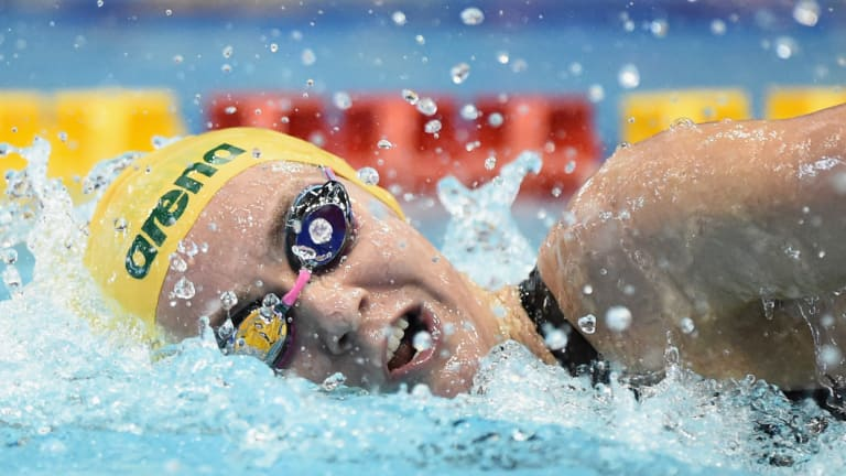 The hunter: Ariarne Titmus is leading the charge to chase down American great Katie Ledecky.
