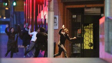 Hostages Harriette Denny, Julie Taylor, Viswa Ankireddy and Joel Herat escape at 2.03am.