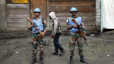 UN peacekeepers in Goma, Democratic Republic of Congo.