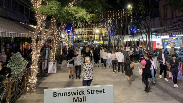 Fortitude Valley's Brunswick Street Mall could be the epicentre of legal weed.