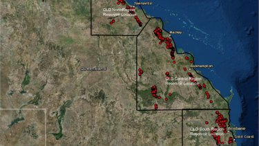 Australian National University report shows potential hydro energy sites in Queensland.